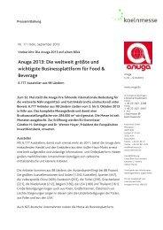 Anuga 2013: Die weltweit größte und wichtigste ... - fairmessage.de
