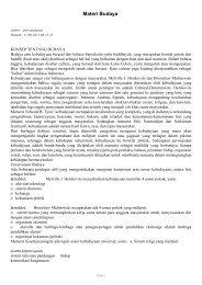 Materi Budaya - SKP
