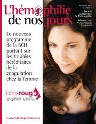 Novembre 2011 - Société Canadienne de l'Hémophilie