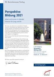 Perspektive Bildung 2021 - wbv-Fachtagung