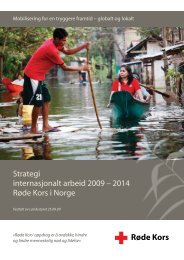 Strategi for internasjonalt arbeid 2009-2014 - Røde Kors