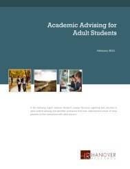 Academic Advising for Adult Students