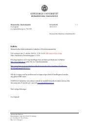 Avdelningen för xxx - Humanistiska fakulteten, Göteborgs universitet