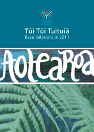 Race Relations in 2011 - Human Rights Commission