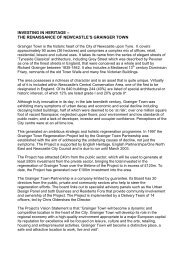 Grainger Town Article - European Association of Historic Towns ...