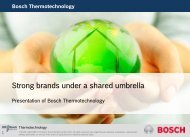Corporate Presentation 2011 - Bosch Thermotechnology