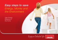 Easy steps to save Energy, Money and the Environment - Calor Gas