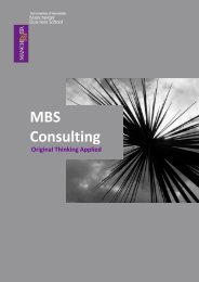 MBS Consulting - Manchester Business School