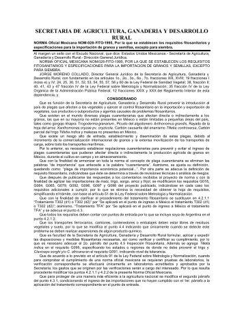 NOM-028-FITO-1995 - Conafab