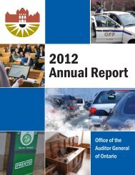 2012 Annual Report - Auditor General of Ontario