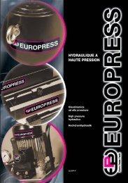 hydraulique a haute pression - Euro Press Pack