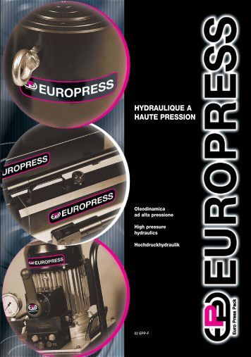 hydraulique a haute pression - Euro Press Pack