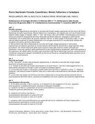 regolamento per la raccolta funghi epigei spontanei nel ... - Parks.it