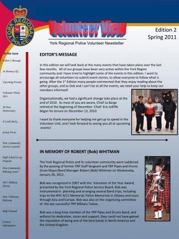 Edition 2 Spring 2011 - York Regional Police