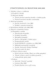 Výroční zpráva za školní rok 2008/2009 (.pdf) - Gymnázium, Brno ...