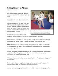 Full Story - McArther's Tae Kwon Do & Fitness