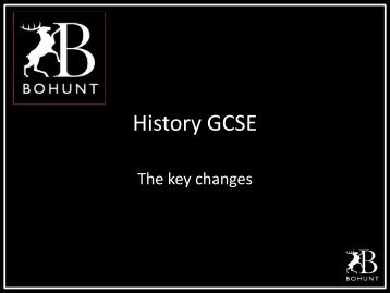 Changes to the History GCSE