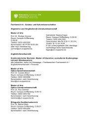 Fachbereich A - ZSB - Bergische Universität Wuppertal