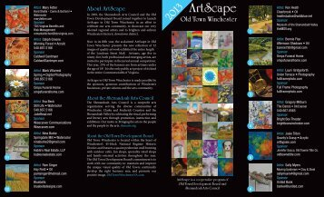 Click here for the 2013 ArtScape brochure - City of Winchester, VA