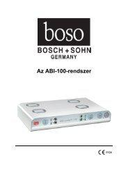 Boso-ABI 100 használati utasítás
