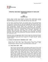 strategi nasional penanggulangan hiv dan aids 2007-2010 - UNDP