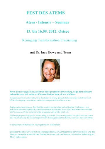 FEST DES ATEMS - ATMAN Institut, Dr. Ines Howe