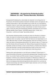 SHONISHIN – die japanische Kinderakupunktur Referent: Dr. med ...