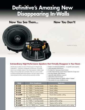 DI LCR brochure - Definitive Technology