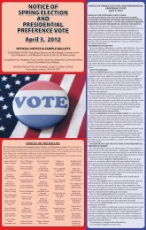 NOTICE OF SPRING ELECTION AND PRESIDENTIAL ...