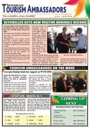 Tourism Ambassadors - Newsletter PG1 - Seychelles Tourism Board