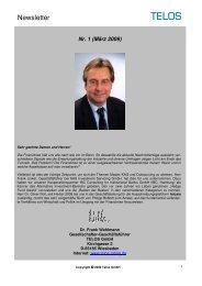 Newsletter Nr.1 2009 - TELOS GmbH