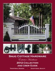 The Snug Cottage Difference! - Barn Door Hardware