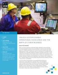 VBlOCk SySTEMS ENABlE OPERATIONAl ExCEllENCE AND THE ...