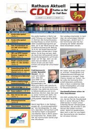 Nr. 164 am 26.03.2009 1. Konjunkturpaket - CDU-Kreisverband Bonn