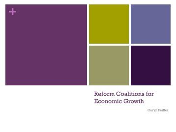 Reform Coalitions for Economic Growth