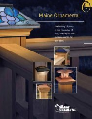 Maine Ornamental Brochure - Universal Forest Products