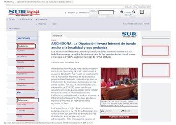 ARCHIDONA: La Diputación llevará Internet de banda ancha a la ...