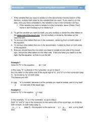 Worksheet #22 Steps for (4