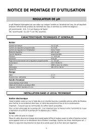 NOTICE DE MONTAGE ET D'UTILISATION - Astral Pool