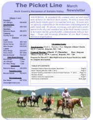 March 2011 Newsletter.pdf - Back Country Horsemen of Montana