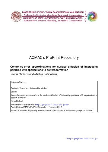 Download (762Kb) - ACMAC's PrePrint Repository