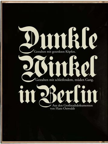 des dunklen Berlin