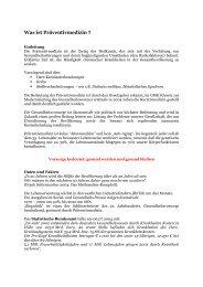 Konzept Stadtprojekt Präventivmedizin (PM) - Vitatest