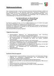 Stellenausschreibung - LANUV NRW