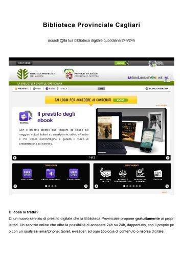 breve introduzione [file .pdf] - Biblioteca Provinciale di Cagliari