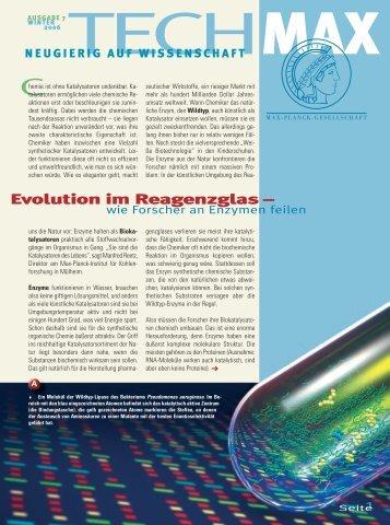 Evolution im Reagenzglas – wie Forscher an Enzymen feilen - Scinexx