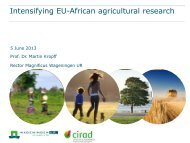 The IntensAfrica Initiative - ERA ARD