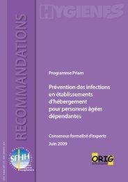 Prévention des infections en établissements d ... - NosoBase