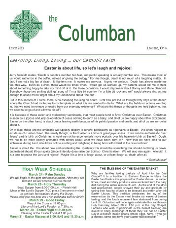 Learning, Living, Loving ... our Catholic Faith - St. Columban Church