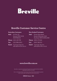 Breville Customer Service Centre